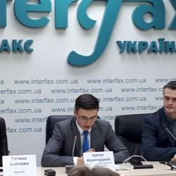 Відбулася прес – конференція на тему: «Голова НБУ Гонтарева тисне на Верховний суд України,  щоб суди приймали рішення на їх користь»