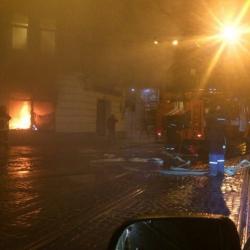 В центре Львова неизвестные подожгли российский банк