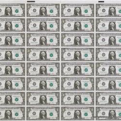 Национальный банк проведет аукцион по продаже неразрезанных листов банкнот
