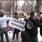 Акция протеста у банка Надра в Киеве.  (Эксклюзивное видео)